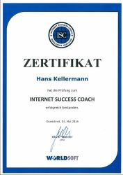 Zertifikat: Internet Success Coach